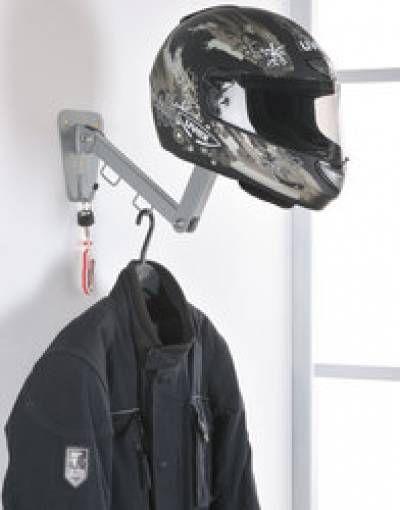 Colgador de vestuario motero casco y llaves for Perchas para colgar llaves